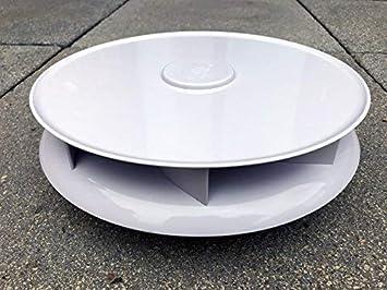 Niedriges Profil Drehbar Dach Entlüftung Für Vans Busse Weiß Groß Dachlüfter Rotierende Ventilator Auto