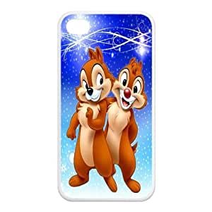 Mystic Zone Customized Chip and Dale iPhone 4 Case for iPhone 4/4S Cover lovely Cartoon Fits Case KEK0533