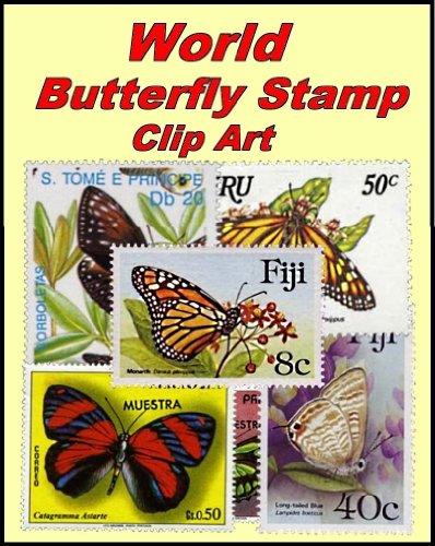 Butterfly Clipart - World Butterfly Stamp Clip Art