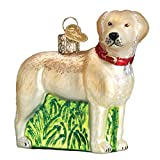 Old World Christmas Glass Blown Ornament Standing Yellow Lab