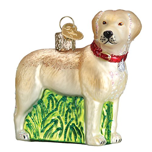 (Old World Christmas Glass Blown Ornament Standing Yellow Lab)