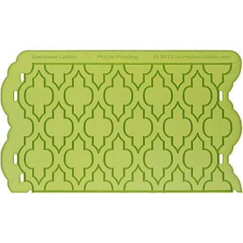 Marvelous Molds Moroccan Lattice Silicone Onlay | Cake Decorating with Fondant Gum Paste Icing