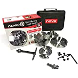 "Nova 48246 G3 Anniversary Edition Chuck Kit (direct thread - fits 1"" x 8tpi lathe spindles) with Case & 3 Jaw Sets"