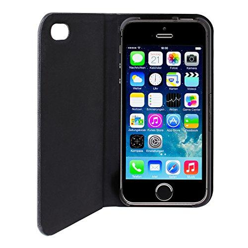 Artwizz Seejacket Folio - Etui mit Standfunktion für iPhone 5 / iPhone 5s - schwarz