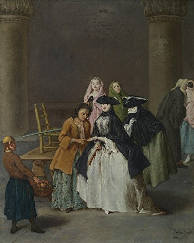 Jack Teller Costume (The Perfect Effect Canvas Of Oil Painting 'Pietro Longhi A Fortune Teller At Venice ' ,size: 24 X 30 Inch / 61 X 76 Cm ,this Amazing Art Decorative Prints On Canvas Is Fit For Laundry Room Artwork And Home Artwork And Gifts)