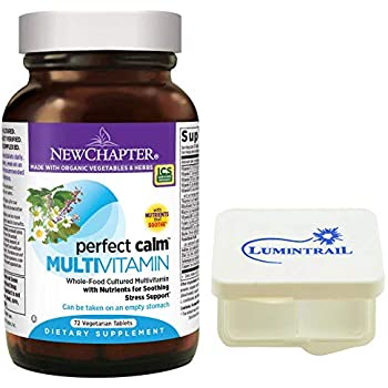 New Chapter Perfect Calm - Daily Multivitamin for Stress & Mood Support with B Vitamins + Holy Basil +...