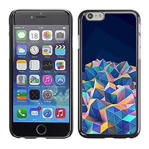 ka ka case unique design personality iPhone 6PLUS (5.5) - blue teal purple pink orange