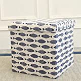 Folding Table and Chairs At Target Storage Stool Storage Stool Can Sit Adult Folding Chair Home Sofa Change Shoe Stool Finishing Box Box Fine Linen Printing Can Sit And Can Be Stored,D,38CM