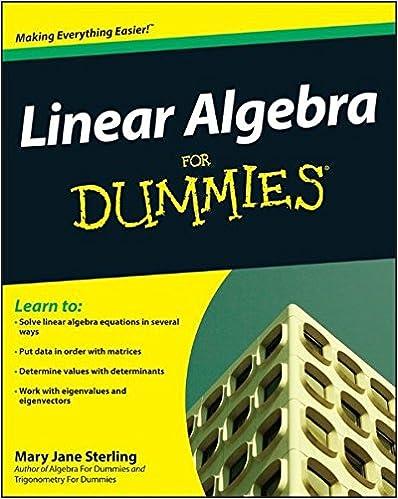 Linear Algebra For Dummies: Mary Jane Sterling: 9780470430903 ...
