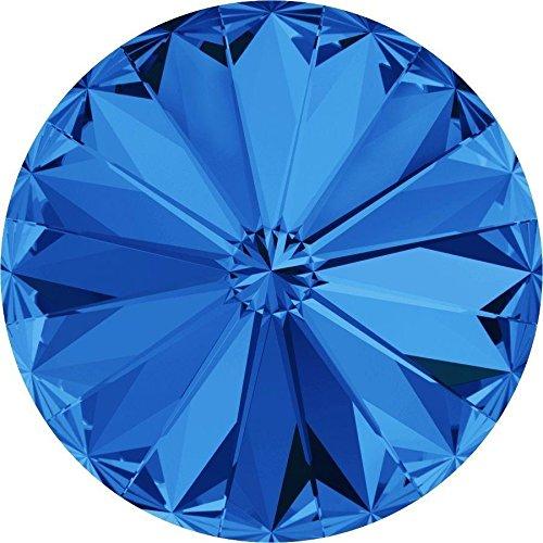 1122 Swarovski Chatons & Round Stones Rivoli Sapphire | SS29 (6.2mm) - Pack of 720 (Wholesale) | Small & Wholesale Packs