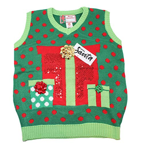 Blue Star Clothing Adult Unisex Ugly Christmas Holiday Pullover V-Neck Knit Vest Sweater