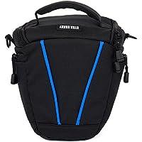 Camera Bag Case DSLR SLR Shoulder Messenger Bag,Armor Wear Nylon Zipper Compact Camera Shoulder Bag for SLR/DSLR Camera Coolpix, Powershot, Mirrorless, Compact Cameras Lens and Accessories