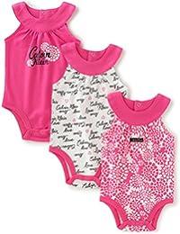 Baby Girls' Assorted Long Sleeve Bodysuit (Pack of 3)