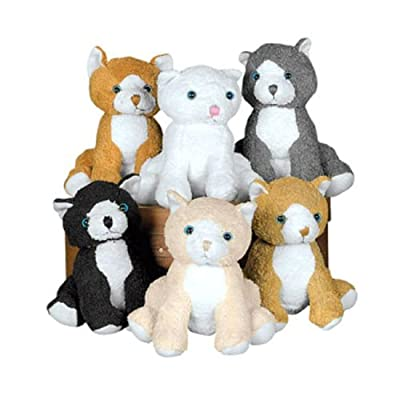 Fun Express Plush Realistic Cats (1 Dozen) by Everready First Aid