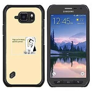 LECELL--Funda protectora / Cubierta / Piel For Samsung Galaxy S6Active Active G890A -- Cita Verano Mujer atractiva playa Dibujo Bikini --