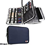 (US) BUBM Double Layer Electronics Organizer, Travel Gadget Bag for Cables, Memory Cards, Flash Hard Drive and More, Fit for iPad or Tablet(up To 9.7