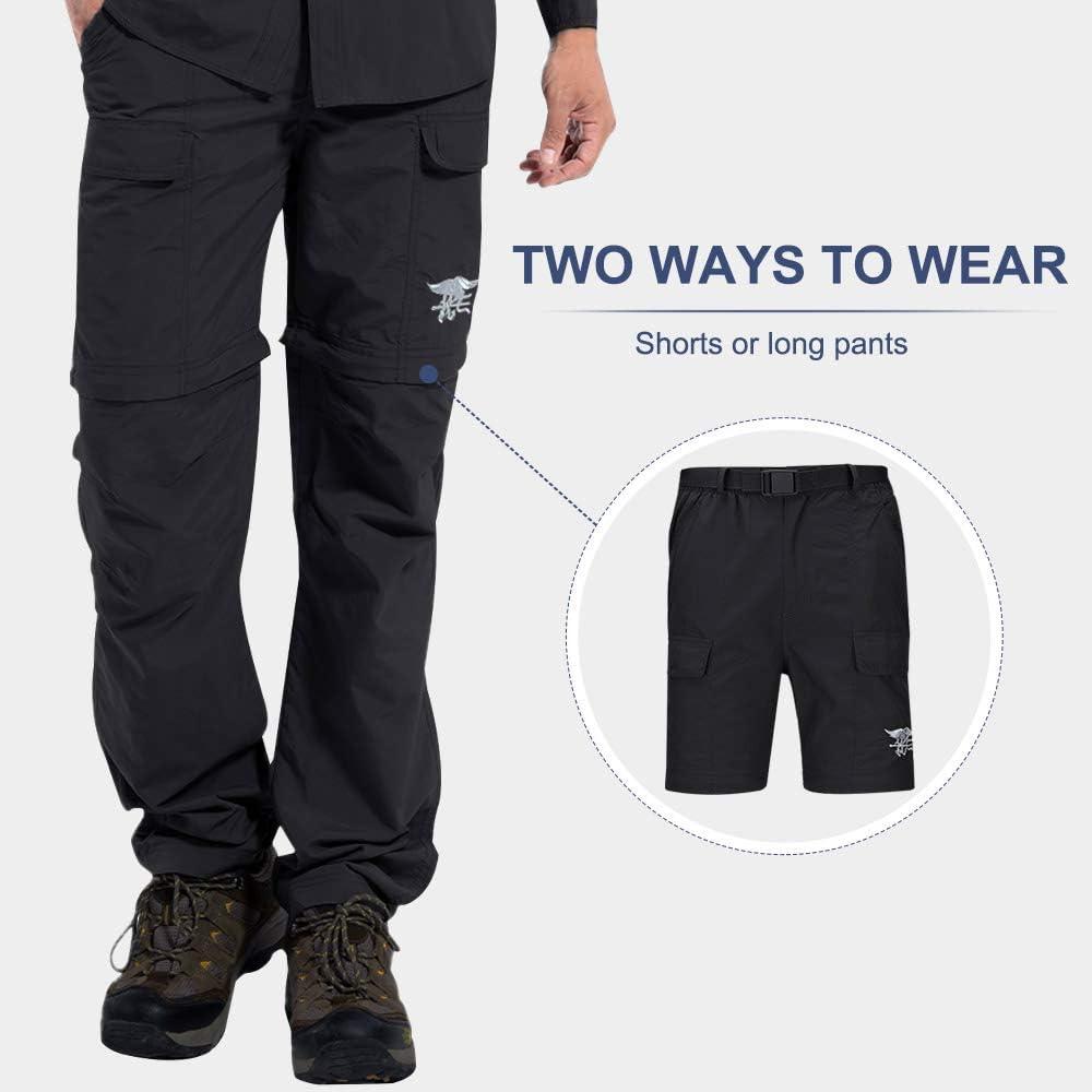 Short escursione impermeabile di camuffamento tattico di secchezza rapido respirabile sottile dei pantaloni Hilarocky Unisex adulto Long