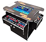 Prime Arcades, LLC Cocktail Arcade Machine 1162 Games in 1 with 80's and 90's Classics Includes 2 Chrome Stools 5 Year Warranty