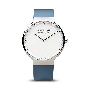 BERING Reloj Analogico para Mujer de Cuarzo con Correa en Silicona 15540-700: Amazon.es: Relojes