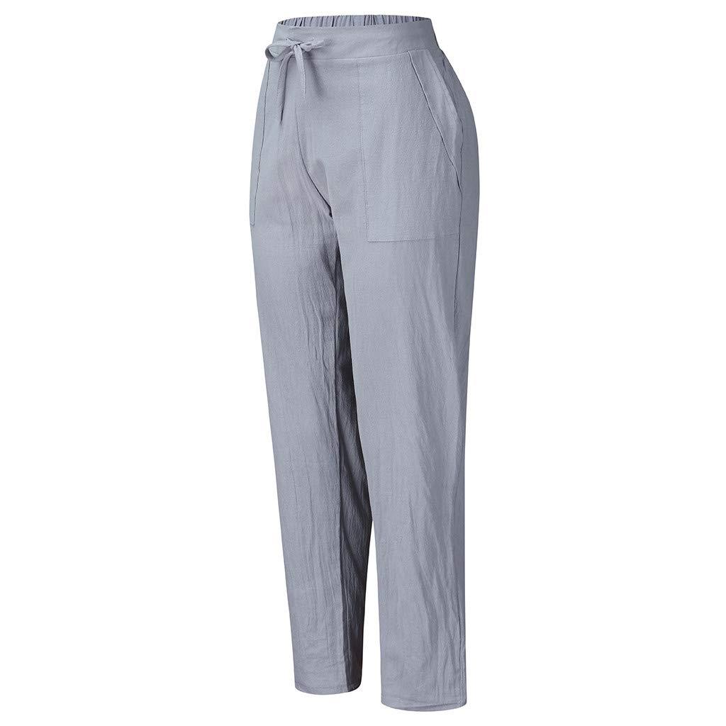 Mujer Elegante Clacce 100 Lino Pantalon De Tela Pantalon Largo De Lino Para Mujer Ropa Brandknewmag Com