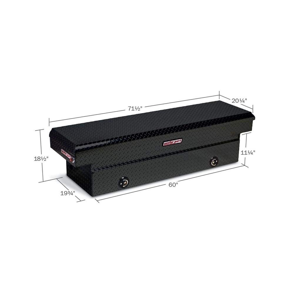 Weather Guard 127502 Black Aluminum Saddle Box