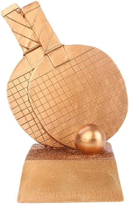 DYYPPWW Trofeo-Tenis de Mesa Trofeo de Oro, Plata y Bronce, artesanía de Resina, Trofeo de Campeonato, 25 cm de Alto-Copper