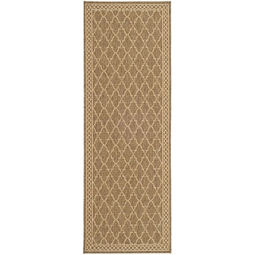 Safavieh Courtyard Collection CY5142B Dark Beige and Beige Indoor/ Outdoor Runner (2'4