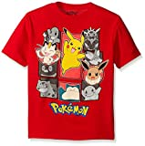 Pokemon Little Boys Group Short Sleeve Tee, Red, Large-7