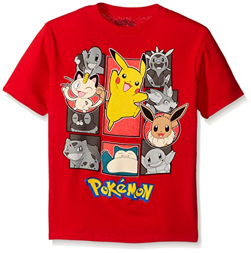 Price comparison product image Pokemon Little Boys Group Short Sleeve Tee, Red, Small - 4