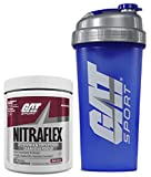 GAT Clinically Tested Nitraflex, Testosterone Enhancing Pre Workout 300 g (30 servings) with BONUS GAT Shaker Bottle (Black Cherry)