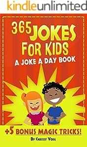 365 Jokes For Kids: A Joke A Day Book +5 Bonus Magic Tricks