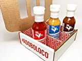 Adoboloco Hot Sauce - 5.6oz Bottles (Variety Pack of 3)