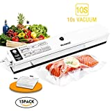small appliance covers green - Welhunter Vacuum Sealer Food Vacuum Packing Machine with Vacuum Hose Automatic Vacuum Sealing System for Dry Food Preservation or Compact Things[Black/white]