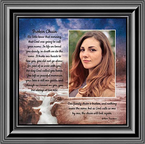 Chain Plaques - Personally Yours Broken Chain, in Memory of a Loved One, Love You Always Plaque, 10x10 6382B