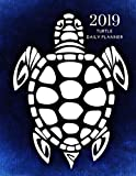 2019 Turtles Daily Planner: Academic Hourly Organizer In 15 Minute Interval; Appointment Calendar With Address Book & Note Section; Monthly & Weekly Goals Journal With Quotes For Tortoise Lovers