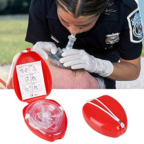 Aoile First Aids Resuscitator Rescue Pocket CPR Mask with One-Way Breath Valve Emergency Self-rescue Tool (Breathing Bag)