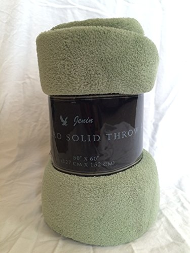 Ultra Soft Cozy Plush Fleece Warm Solid Colors Traveling Throw Blanket 50