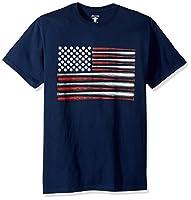 Soffe Men's American Flag Graphic T-Shirt, Americana Collection, USA Baseball, Small
