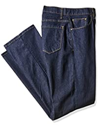 Men's Big and Tall Active-Flex Dark-Rinse Stretch-Denim Jean