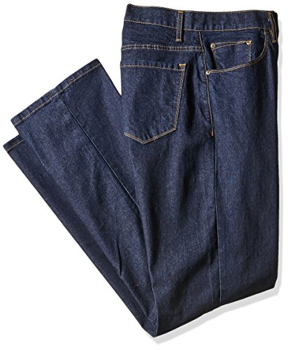 Savane Men's Big and Tall Active Flex Stretch Denim, Dark Rinse, 54W X 30L