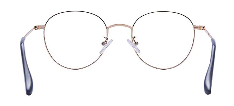 BodyGo Unisex Ovale Montatura Occhiali da Vista Occhio Frame Struttura Pianura rotonda retro anni in vetro Plain completa-Rim Occhiali