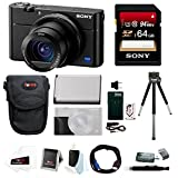 Sony DSC-RX100M5 Cyber-shot Digital Camera w/ Sony AGR2 Grip & 64GB Accessory BundlE