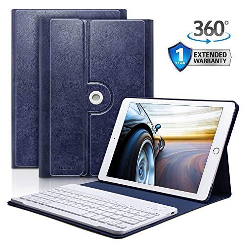 iPad Keyboard Case 9.7 for iPad 2018 (6th Gen) - iPad 2017 (5th Gen) - iPad Pro 9.7 - iPad Air 2 and 1 - Auto Sleep/Wake - 360 Rotatable - Bluetooth Pairing - iPad Case with Keyboard