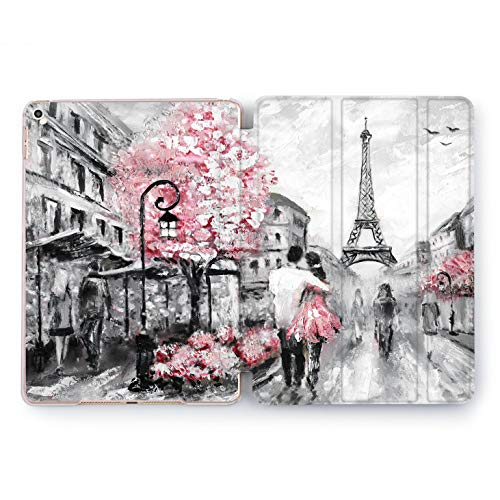 (Wonder Wild Paris Love iPad 5th 6th Generation Mini 1 2 3 4 White Black Pink Air 2 Pro 10.5 12.9 2018 2017 9.7 inch Smart Cover World Design Case)