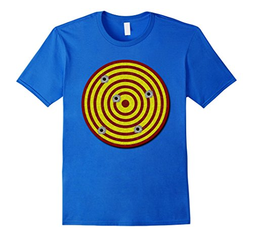 [Mens Shooters Gun Target Pop Art Funny T-Shirt For MEN & WOMEN Medium Royal Blue] (Pop Art Girl Costume Outfit)