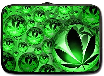 Neopren marihuana weed leaf colorful nature hülle sleeve case für