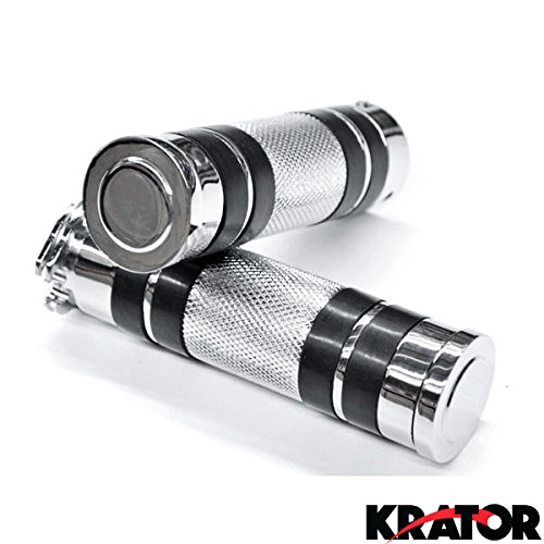 Krator Motorcycle Hand Grips 1 Inch Handlebar Bars Pair For Suzuki Boulevard M109R M50 M90 M95