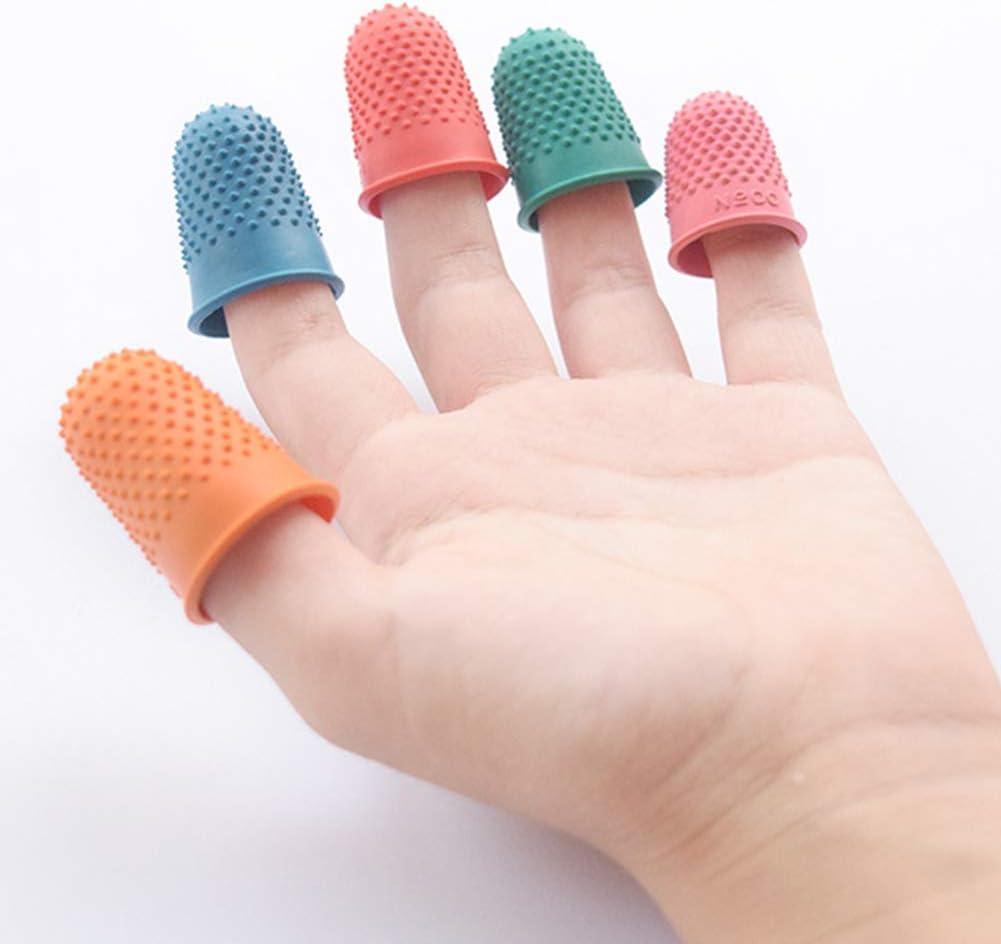 comptage matelass/é protection des doigts Couvre-doigt en caoutchouc coudre en caoutchouc 5 pi/èces couture couture free size Orange
