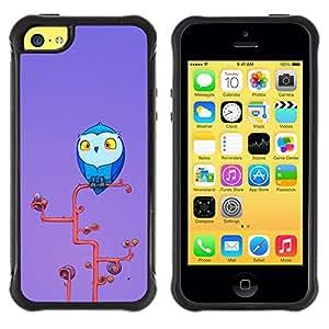 Suave TPU GEL Carcasa Funda Silicona Blando Estuche Caso de protección (para) Apple Iphone 5C / CECELL Phone case / / Cute Owl /