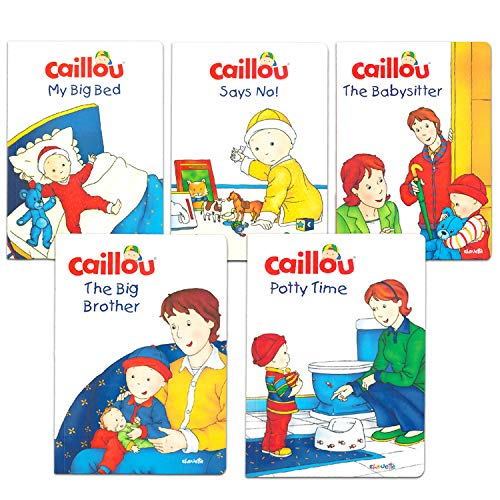 Caillou Book Set for Toddlers Kids -- Bundle of 5 Caillou Toddler Development Books, Including Potty Time Book (Party Supplies) (Caillou Books for Toddlers)